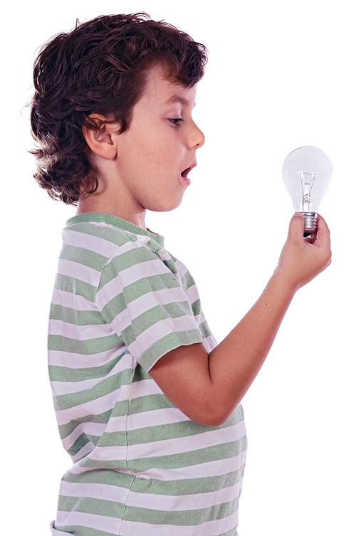 Boy light bulb
